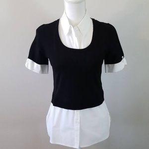 White House Black Market Twofer Sweater Size Med